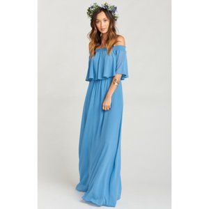 Show Me Your Mumu Dress M Off Shoulder Hacienda